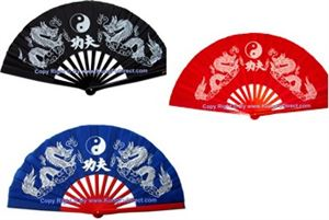 Picture of Tai Chi Twin Dragons Bamboo Fan