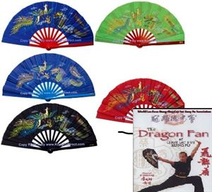 Picture of Dragon & Phoenix Bamboo Fan Kit