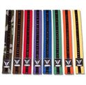 Picture of Thunder Double Wrap Black Stripe Karate Belt