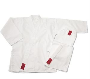 Picture of Gladiator 7.5 oz. Medium Weight Karate Uniform - White