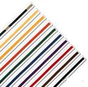Picture of Single Wrap Striped White Karate Belts