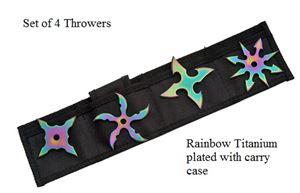 Picture of Ninja Throwers Rainbow Stars set of 4