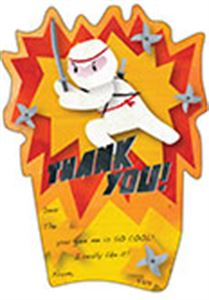 Picture of Ninja Party Thank You Cards