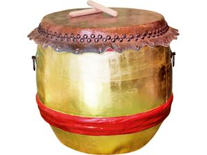 Picture of Gold Southern Lion Dance Drum