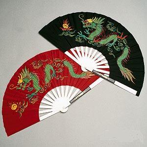 Picture of Metal Dragon Fighting Fan