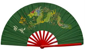 Picture of Green Dragon Kung Fu Bamboo Fan
