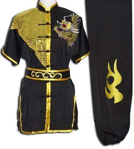 Picture of Black & Gold with Dragon Kung fu Uniform