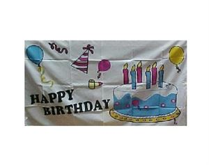 Picture of Party Time Happy Birthday Flag