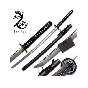 Picture of Ten Ryu Carbon Steel Hand Forged Samurai Sword