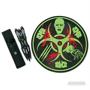 Picture of 3 Piece Throwing Knives Set w/ Board
